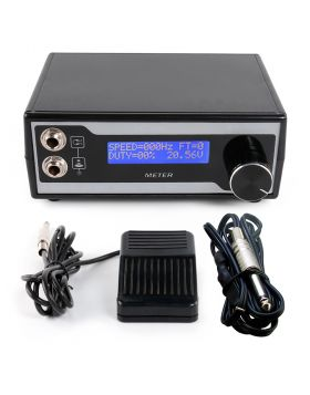 Tattoo Power Supply Digital LCD Display Footswitch Clip cord Kit P121