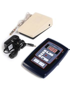 tattoo New LCD Digital Tattoo Power Supply with Foot Pedal and Clip Cord Kit P164