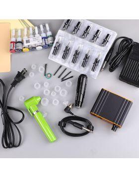 Solong Rotary Tattoo Pen Kit Cartridge Needles EN05-20KIT-A Power Supply 7 Color Ink EK130-1
