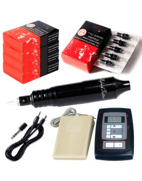 Rotary Tattoo Machine Cheyenne tattoo Kit  with Digital Tattoo Power Supply and 50pcs Needles Cartridges EM105KIT