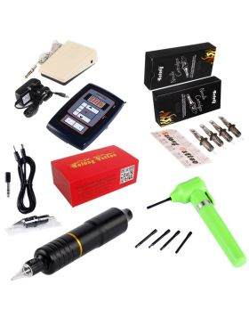 Rotary Tattoo Pen Kit  5RM + 7RM tattoo needle cartridges kit EM108KITC40J